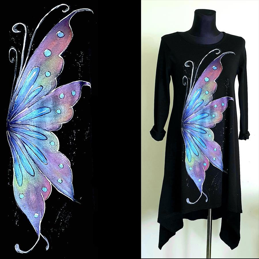 Metuljčkova krila v vijolično modrih barvnih odtenkih.