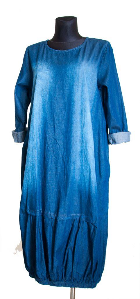 Model dolge obleke iz Jeansa.