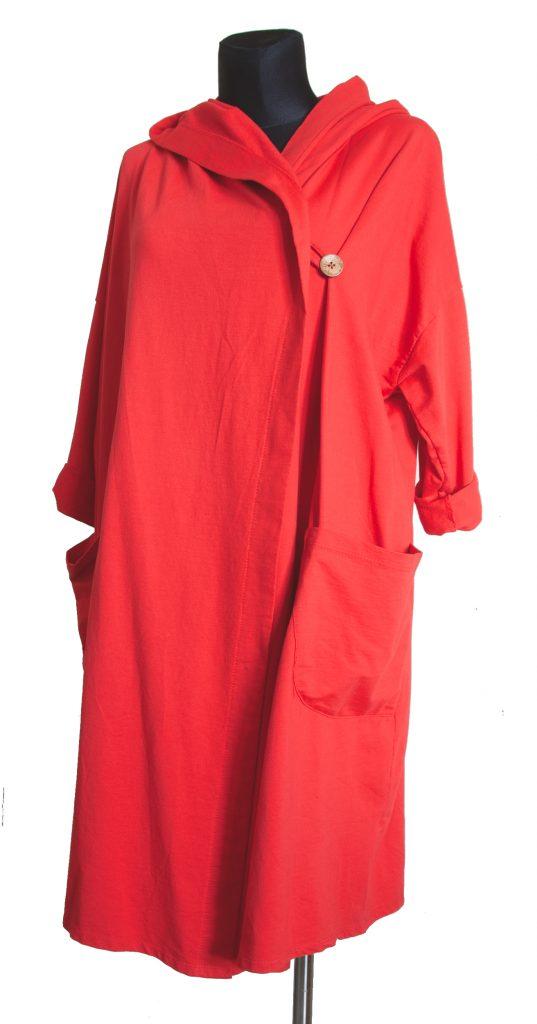 obleke dolga rdeča s kapuco