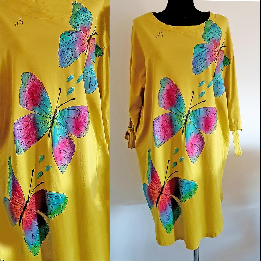 Motivi in poslikave metuljčkov v dekliških barvah